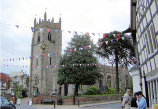 A view of St Nicholas Church Alcester -Church of England